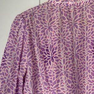 Robert Graham Tops - Robert Graham Purple V-Neck Popover Blouse Beaded